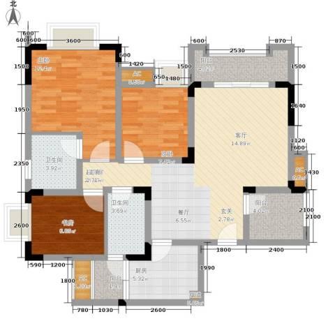 爱情谷3室0厅2卫1厨86.00㎡户型图