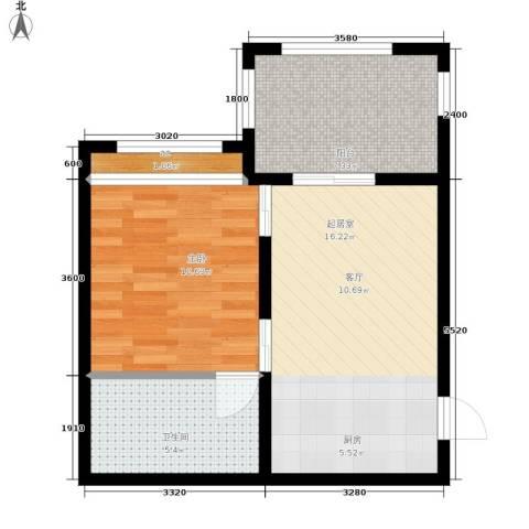 上邦高尔夫温泉公馆1室0厅1卫0厨41.00㎡户型图