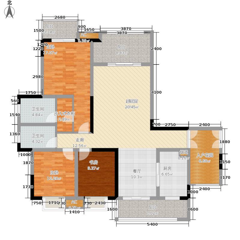 保利高尔夫华庭132.00㎡水岸洋楼面积13200m户型