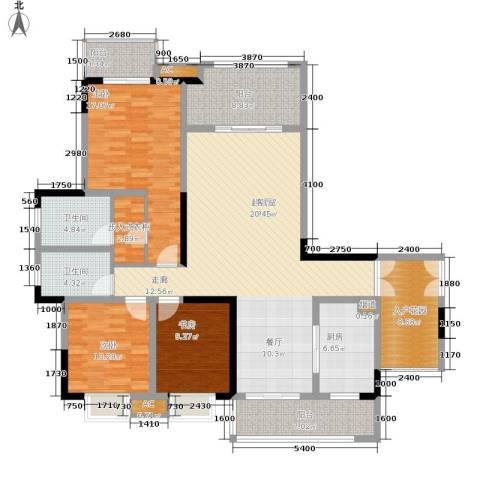保利高尔夫华庭3室0厅2卫1厨132.00㎡户型图