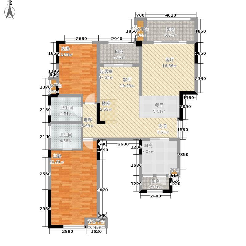 约克郡阅林一期洋房1号楼C3-1户型4室2厅