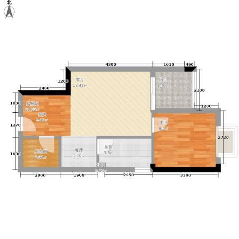 民主新村1室0厅1卫1厨55.00㎡户型图