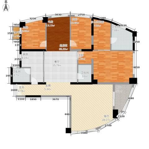 西钓鱼台嘉园3室0厅3卫1厨212.00㎡户型图