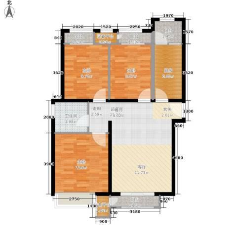 世茂英郡3室0厅1卫1厨97.00㎡户型图
