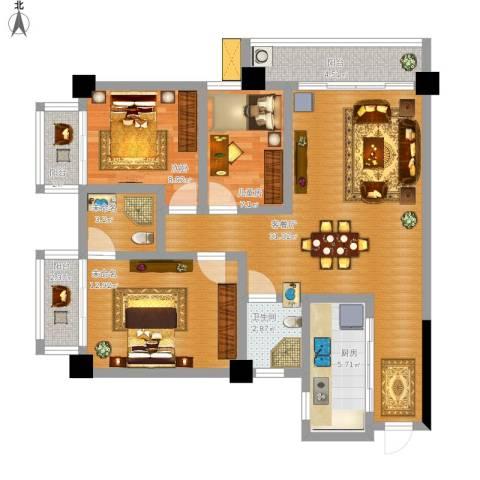 LAKE街区知音国际茶城2室1厅1卫1厨121.00㎡户型图