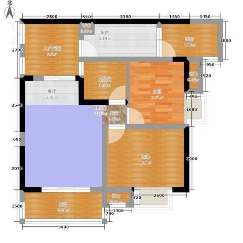 中冶重庆早晨2室0厅1卫1厨61.12㎡户型图