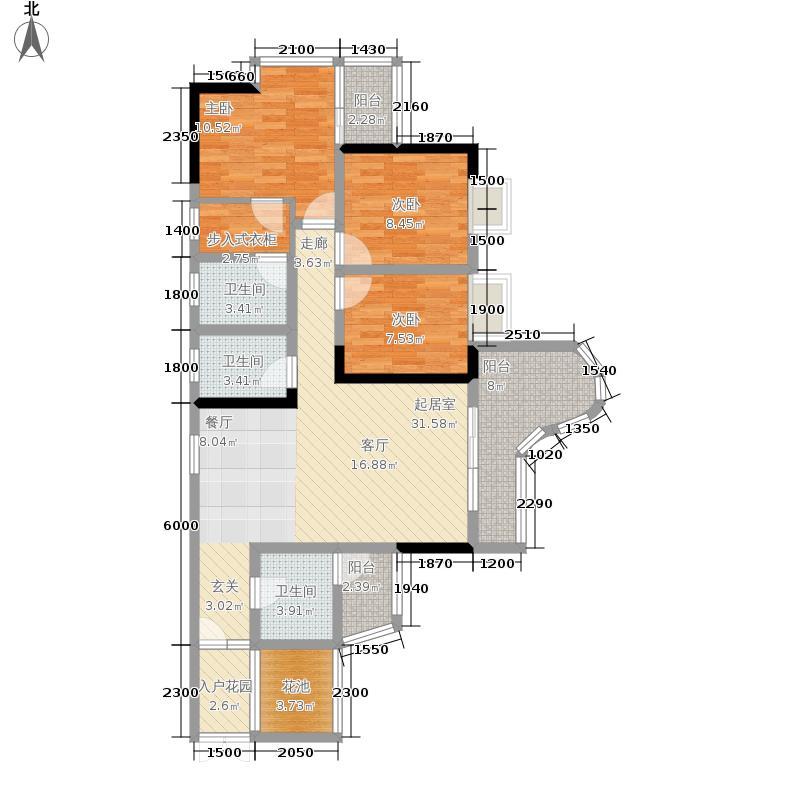 百康年拿铁城93.49㎡B-023面积9349m户型