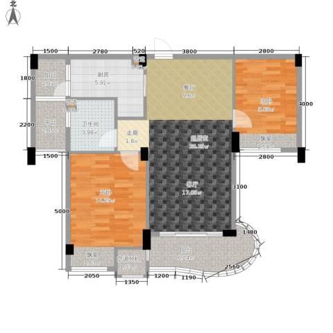 航发锦绣家园2室0厅1卫1厨105.00㎡户型图