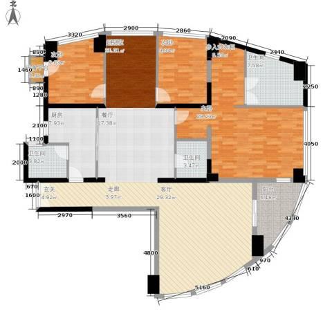 西钓鱼台嘉园3室0厅3卫1厨206.00㎡户型图