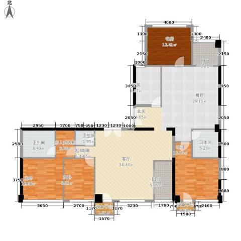 西钓鱼台嘉园4室0厅3卫1厨231.00㎡户型图