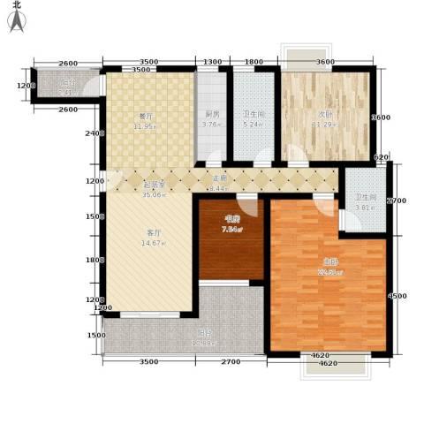 昌福盛景郦城3室0厅2卫1厨114.00㎡户型图