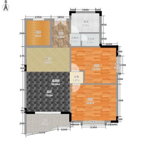 枫树园2室0厅1卫1厨91.00㎡户型图