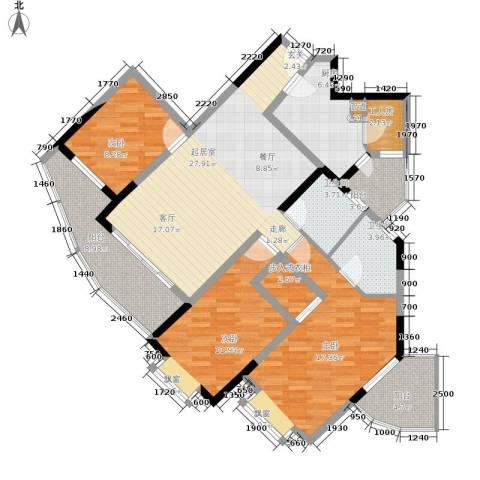 珠江华轩3室0厅2卫1厨116.43㎡户型图