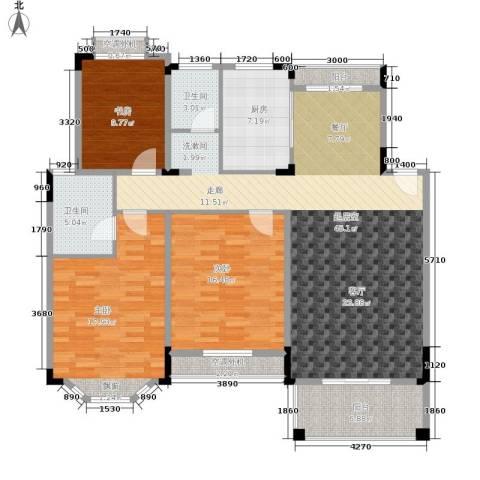 金峰南院3室0厅2卫1厨125.00㎡户型图