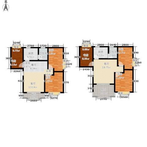 秋实小区6室1厅2卫2厨187.00㎡户型图