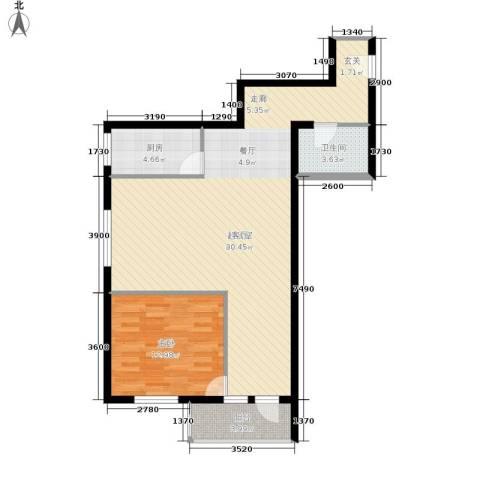 开阳里小区1室0厅1卫1厨76.00㎡户型图