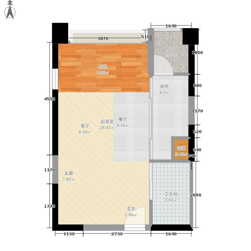 金科云湖天都40.16㎡岸香4号楼4面积4016m户型