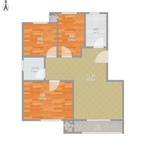 即墨幸福家园.jpg3室1厅1卫1厨73.00㎡户型图