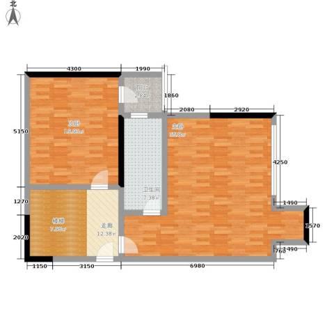 海客瀛洲2室0厅1卫0厨97.00㎡户型图