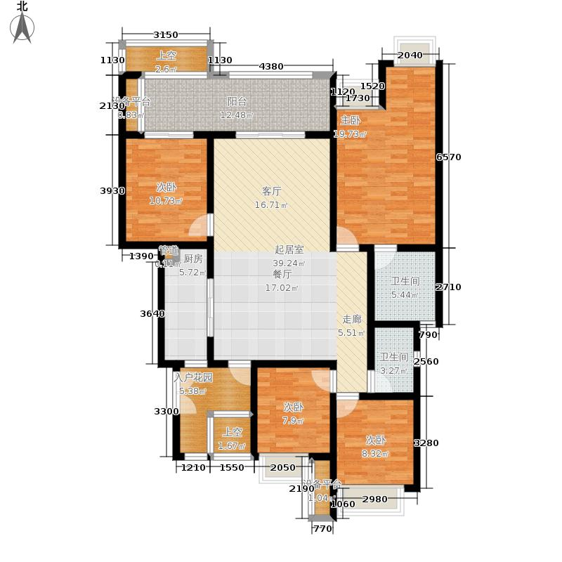 约克郡阅林142.00㎡一期12楼洋房标准层D2-2户型4室2厅