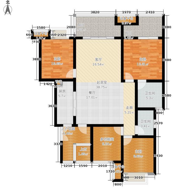 约克郡阅林126.00㎡一期12楼洋房标准层C2-4户型3室2厅