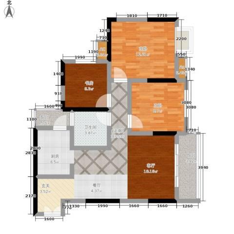 天生丽街3室0厅1卫0厨73.00㎡户型图