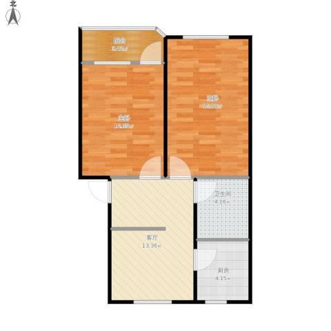 仁和花苑2室1厅1卫1厨71.00㎡户型图