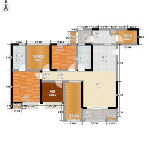 金辉融侨半岛云满庭B区3室0厅2卫1厨134.00㎡户型图