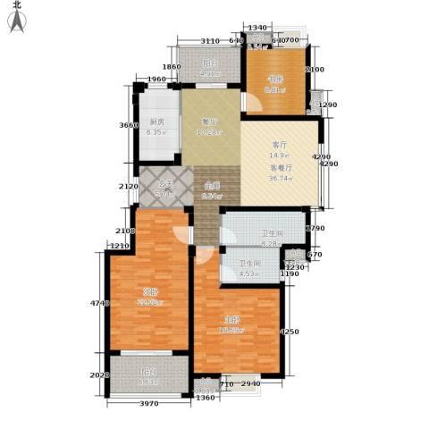 缇香一品3室1厅2卫1厨134.00㎡户型图