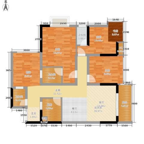 旭庆江湾国际花都3室0厅3卫1厨96.00㎡户型图