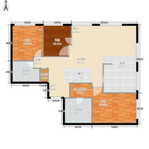 当代万国城3室0厅2卫0厨177.00㎡户型图