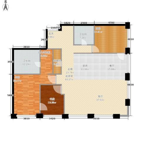 当代万国城3室0厅2卫0厨192.00㎡户型图