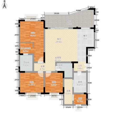 晋愉上江城4室0厅2卫1厨147.00㎡户型图