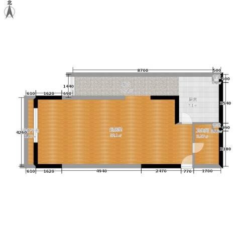 新重庆公寓1卫0厨81.00㎡户型图