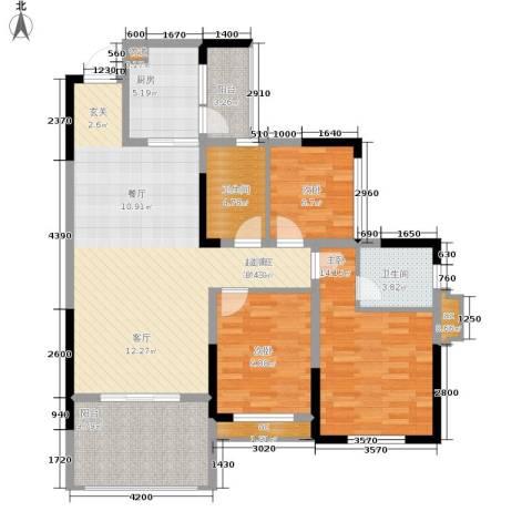 金科10年城3室0厅2卫1厨93.91㎡户型图