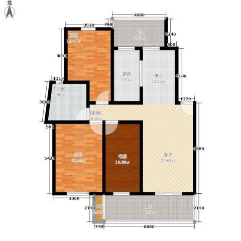 金玉满堂城市花园3室0厅1卫1厨123.71㎡户型图