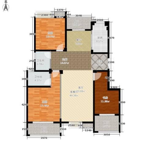 缇香一品3室1厅2卫1厨129.00㎡户型图