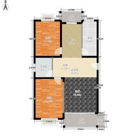 天峰名苑2室0厅1卫1厨90.00㎡户型图