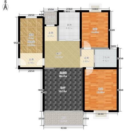 天峰名苑2室0厅1卫1厨93.89㎡户型图