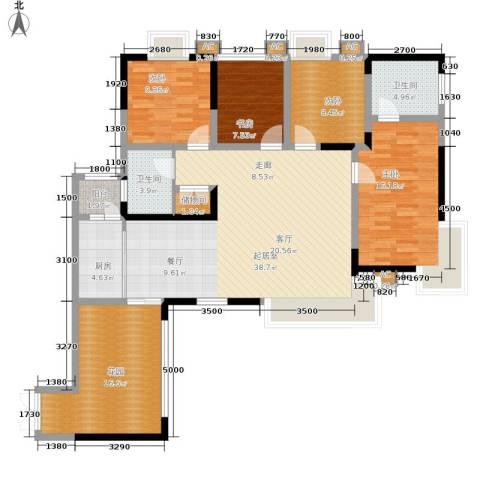 星月湾4室0厅2卫1厨132.00㎡户型图
