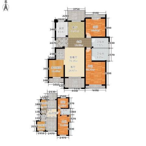 缇香一品4室1厅3卫1厨228.00㎡户型图