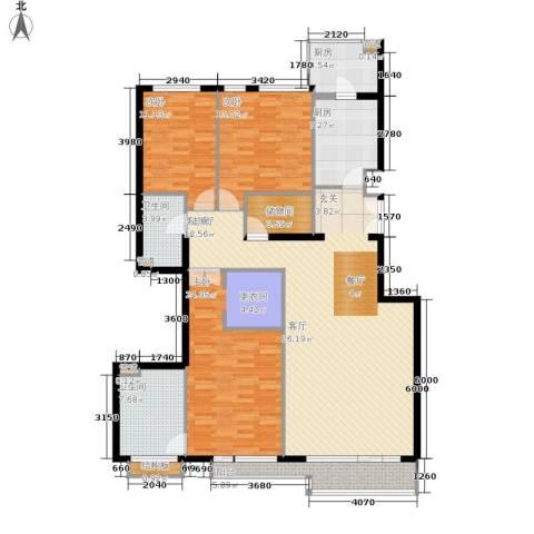 本家润园3室1厅2卫2厨137.00㎡户型图