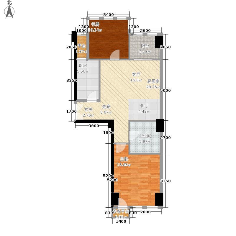 西钓鱼台嘉园105.21㎡三号楼3单元面积10521m户型