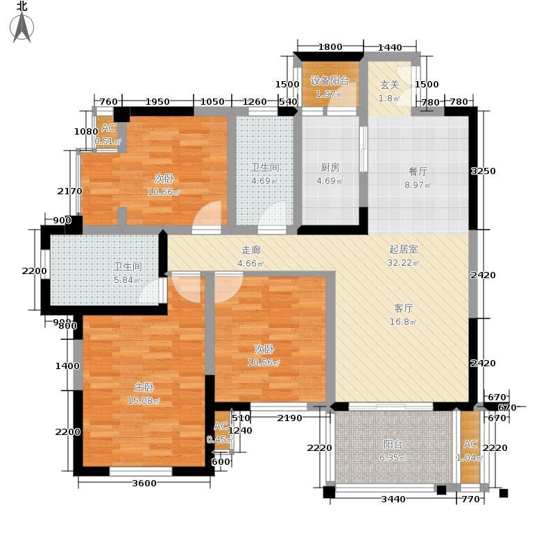 龙城国际89.00㎡1期13号楼偶数层B3户型