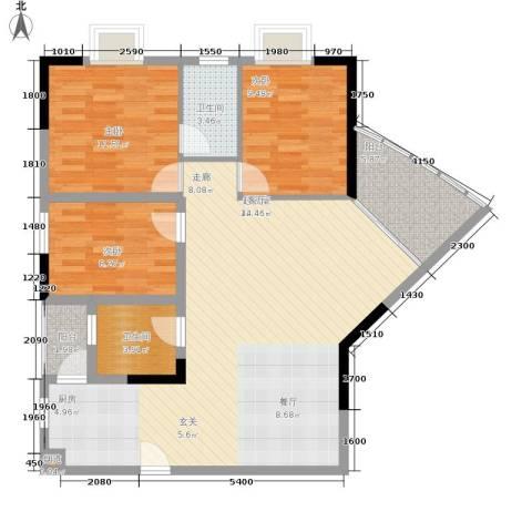 映江花园3室0厅2卫0厨128.00㎡户型图