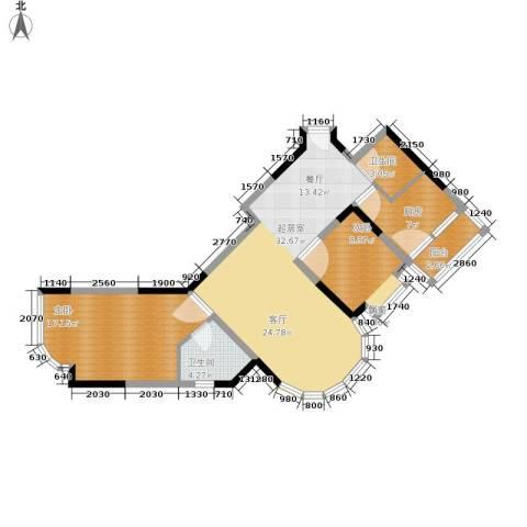 珠江华轩2室0厅2卫1厨84.56㎡户型图