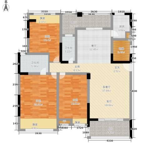 雍晟状元府邸3室1厅2卫1厨164.00㎡户型图