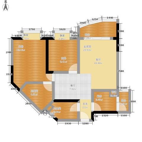 珠江华轩2室0厅2卫1厨74.29㎡户型图
