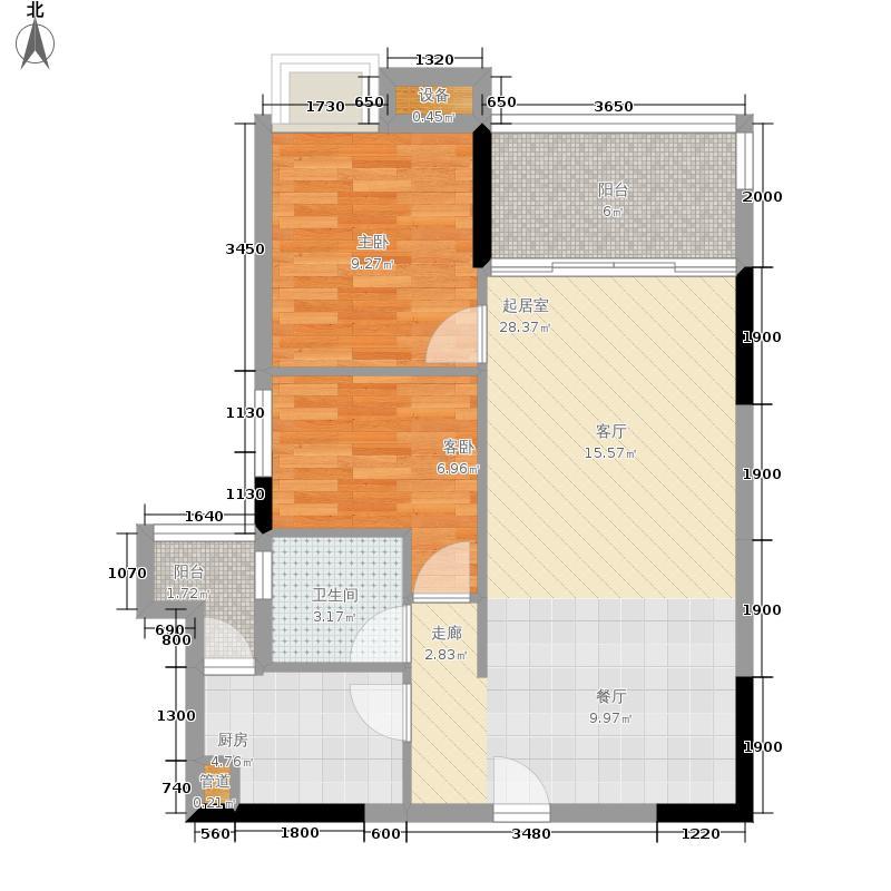 商道8号73.44㎡三期4栋1单元01号房户型2室2厅