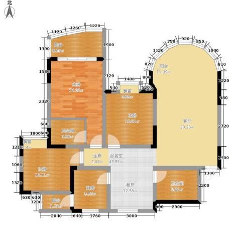 珠江华轩3室0厅2卫1厨114.91㎡户型图